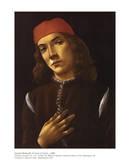 Portrait of Youth Affiches par Sandro Botticelli