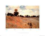 De klaprozen Affiches van Claude Monet