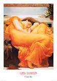 Slapende vrouw: Flaming June Print van Frederick Leighton