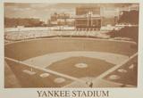 New York Yankees Yankee Stadium B&W Vintage Photo Sports Fotografia