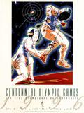 Olympic Fencing Atlanta, c.1996 Poster van Hiro Yamagata