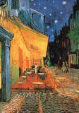 Cafe Terrace at Night Poster van Vincent van Gogh