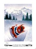 U.S. Olympic Team Bobsled Lillehammer, c.1994 Posters van Frank Steiner