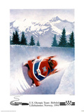 U.S. Olympic Team Bobsled Lillehammer, c.1994 Prints by Frank Steiner