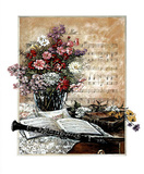 Music Clarinet Floral 1 Poster