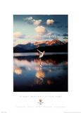 Figure Skating Silver Lake 2002 Salt Lake City Olympics Poster