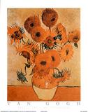 Sunflowers Les Tournesols Plakater af Vincent van Gogh