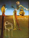Woman With Head of Roses Art par Salvador Dalí