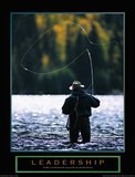 Leadership Fly Fisherman Motivational Pósters