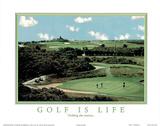 Golf is Life Nothing Else Matters Motivational Kunstdruck