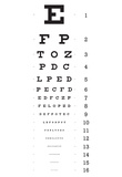 Eye Chart 16-Line Reference Poster Pósters