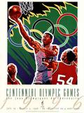 Olympic Basketball, c.1996 Atlanta Bilder av Hiro Yamagata