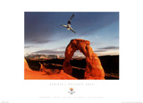 Aerials Delicate Arch 2002 Salt Lake City Olympics Poster