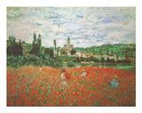 Field of Poppies Vetheuil Affiches par Claude Monet