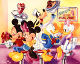 Mickey Mouse and Friends Goofy's Soda Shop アートポスター
