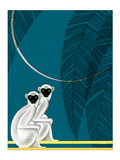 Two Monkeys Print by Frank Mcintosh
