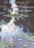 Water Lilies Nympheas, c.1907 Poster af Claude Monet
