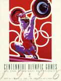 Olympic Weightlifting, c.1996 Atlanta Plakater af Hiro Yamagata