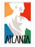Atlanta, c.1996 Olympic Primary Olympian in Stars Poster