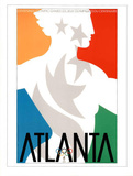 Atlanta, c.1996 Olympic Primary Olympian in Stars Prints