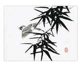 Bamboo and Bird Posters