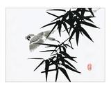 Bamboo and Bird Kunstdrucke