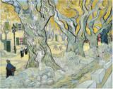 The Road Menders, c.1889 Plakater av Vincent van Gogh