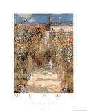 Le Jardin a Vetheuil Posters av Claude Monet