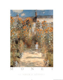 Le Jardin a Vetheuil Kunstdrucke von Claude Monet