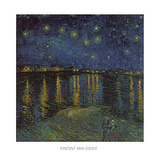 Starry Night Over the Rhone Pôsters por Vincent van Gogh