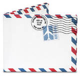 Air Mail Par Avion Tyvek Mighty Wallet Geldbörse