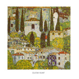 Church at Cassone on Garda Kunstdrucke von Gustav Klimt