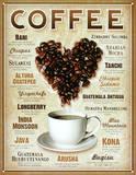 Heart Coffee Blends Plaque en métal