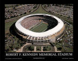 Washington Redskins RFK Memorial Stadium Sports Plakater av Mike Smith