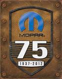 Mopar 75th Anniversary Placa de lata
