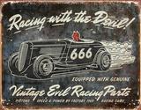 Racing with the Devil Plaque en métal