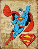 Superman Weathered Panels Blikkskilt