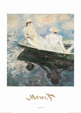 Girls on a Boat Pôsters por Claude Monet