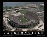 Jacksonville Jaguars Alltell Stadium Inaugural Game Sept 3, c.1995 Poster by Scott Schwartz