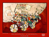We Are the Champions Cycling Beijng 2008 Olympics Poster van David Schluss
