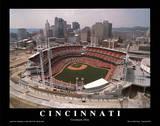 Cincinnati Reds Stadium Opening Game Sports Schilderij van Mike Smith