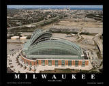Milwaukee Brewers Miller Park Sports Plakater av Mike Smith