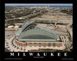 Milwaukee Brewers Miller Park Sports Poster von Mike Smith