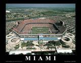 Miami Dolphins Pro Player Stadium Sports Plakat av Mike Smith