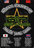 Guns N Roses Chinese Democracy World Tour 2002 Carteles metálicos