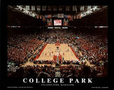 College Park Maryland Comcast Center NCAA Sports Posters by Mike Smith