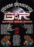 Guns N Roses Chinese Democracy World Tour 2002 Concert Targa di latta