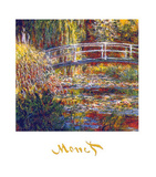 The Water Lily Pond Poster af Claude Monet