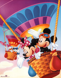 Mickey Mouse and Friends Hot Air Balloons Poster
