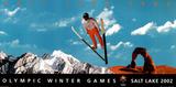 Salt Lake City 2002 Olympics Ski Jumper Posters